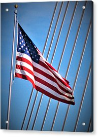 Red, White And Blue Acrylic Print