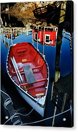Red White And Blue Acrylic Print by Ron St Jean