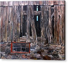 Acrylic Print featuring the painting Red Window by Anna-maria Dickinson