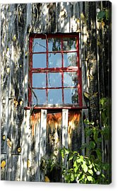 Acrylic Print featuring the photograph The Red Window by Sandi OReilly