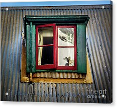 Acrylic Print featuring the photograph Red Windows by Perry Webster