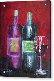 Red Wine Art Acrylic Print
