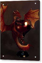 Red Wine Dragon Acrylic Print by Daniel Eskridge