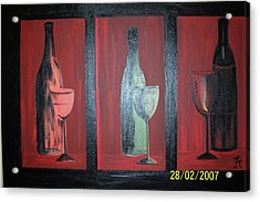 Red Wine Acrylic Print by Martha Mullins