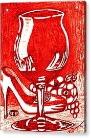 Red Wine Acrylic Print by Richard Heyman