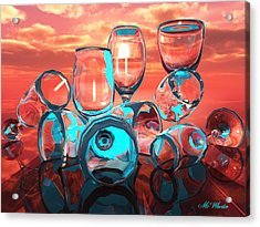 Merlot Acrylic Print by Williem McWhorter
