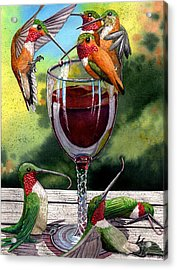 Red Winos Acrylic Print