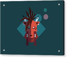 Acrylic Print featuring the digital art Red Xiii by Michael Myers