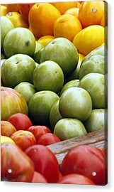 Red Yellow Green Acrylic Print by Alan Todd