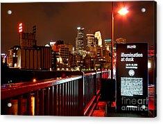 Redbull Illume Minneapolis Stone Arch Bridge Acrylic Print