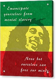 Redemption Song Free Our Minds Acrylic Print