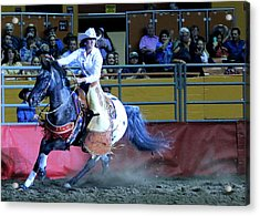 Acrylic Print featuring the photograph Rodeo Queen At The Grand National Rodeo by John King
