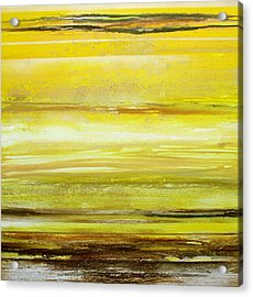 Redesdale Rhythms And Textures Yellw And Sepia Acrylic Print by Mike   Bell