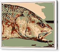 Redfish Camo Acrylic Print by David Danforth