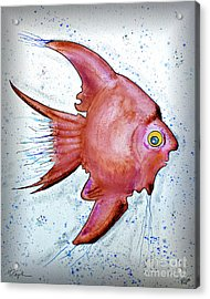 Acrylic Print featuring the mixed media Redfish by Walt Foegelle