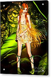 Redhead Forest Pixie Acrylic Print