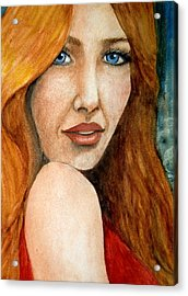 Redhead In October Acrylic Print