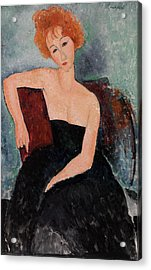 Redheaded Girl In Evening Dress Acrylic Print