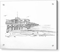 Redington Beach Florida Fishing Pier Acrylic Print