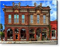 Redmens Hall - Jacksonville Oregon Acrylic Print by James Eddy
