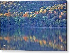 Rednor Lake Reflections - 1 Acrylic Print by Randy Muir