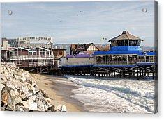 Redondo Beach Pier Shopping Acrylic Print