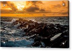Redondo Beach Sunset Acrylic Print by Ed Clark