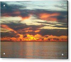 Redondo Beach Sunset Acrylic Print by Mark Barclay
