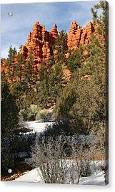 Redrock Winter Acrylic Print