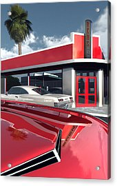 Reds Five And Dime Acrylic Print by Richard Rizzo