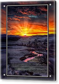 Acrylic Print featuring the photograph Redwater River Sunrise by Fiskr Larsen