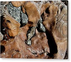Redwood Stone Collage Acrylic Print