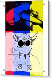 Red_yellow_blue Acrylic Print by Yeah Nothing