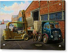 Reed Paper Foden Fg Acrylic Print by Mike  Jeffries