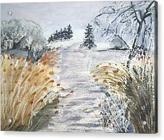 Reeds On The Riverbank No.2 Acrylic Print