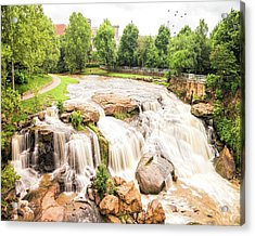 Acrylic Print featuring the photograph Reedy River Falls Greenville Sc by Bellesouth Studio