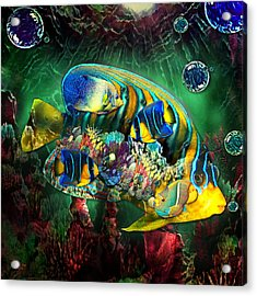 Reef Fish Fantasy Art Acrylic Print