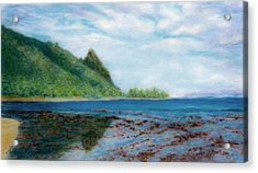 Reef Walk Acrylic Print by Kenneth Grzesik
