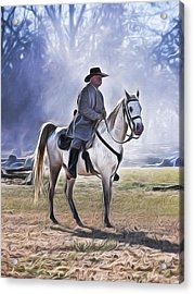 Reenactment General Acrylic Print