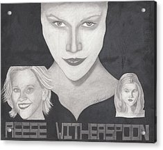 Reese Witherspoon Acrylic Print by Tara Kearce