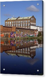 Refective Canal 2 Acrylic Print by Jez C Self