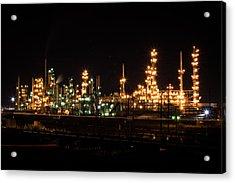 Refinery At Night 3 Acrylic Print