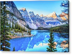 Reflect On Nature Acrylic Print by James Heckt