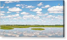 Acrylic Print featuring the photograph Reflected Clouds - 01 by Rob Graham