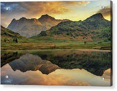 Acrylic Print featuring the photograph Reflected Peaks by James Billings