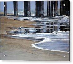 Reflected Pier Acrylic Print