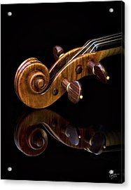 Reflected Scroll Acrylic Print by Endre Balogh