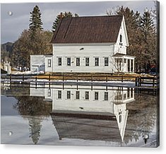 Reflected Town House Acrylic Print by Tim Kirchoff