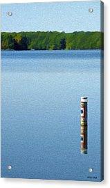 Reflected Warning Acrylic Print by Jeffrey Kolker