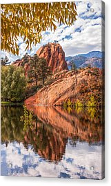 Acrylic Print featuring the photograph Reflecting At Red Rocks Open Space by Christina Lihani